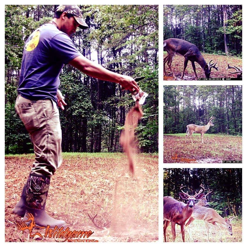 trail photos using critter lick deer attractant